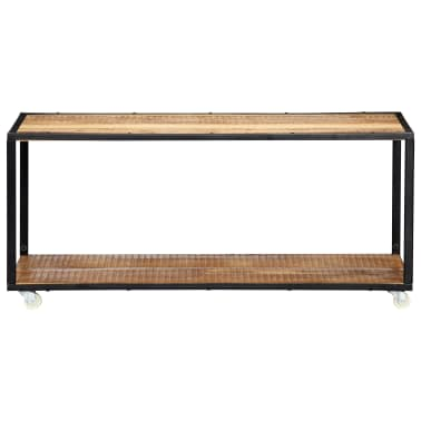 vidaXL Kavos staliukas, 90x50x40cm, perdirbtos medienos masyvas[2/13]