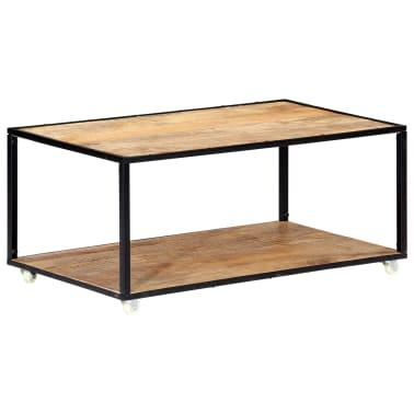 vidaXL Kavos staliukas, 90x50x40cm, perdirbtos medienos masyvas[12/13]