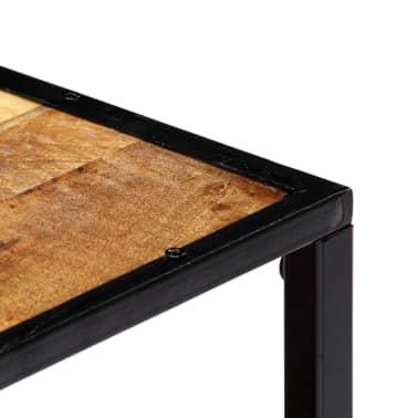 vidaXL Kavos staliukas, 90x50x40cm, perdirbtos medienos masyvas[3/13]