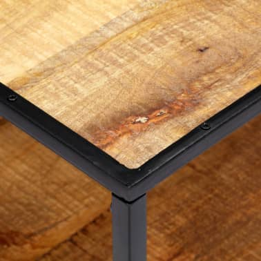 vidaXL Kavos staliukas, 90x50x40cm, perdirbtos medienos masyvas[6/13]