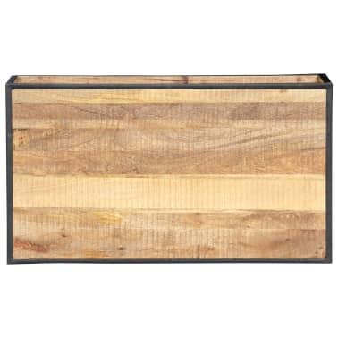 vidaXL Kavos staliukas, 90x50x40cm, perdirbtos medienos masyvas[7/13]