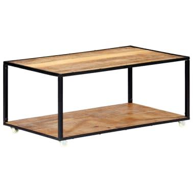 vidaXL Kavos staliukas, 90x50x40cm, perdirbtos medienos masyvas[9/13]