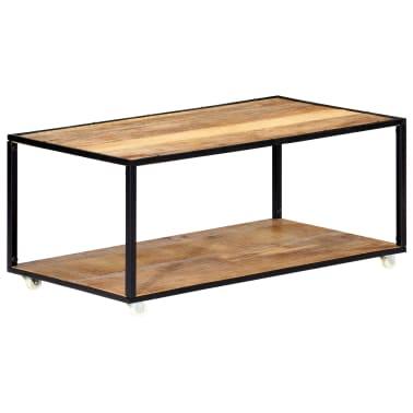 vidaXL Kavos staliukas, 90x50x40cm, perdirbtos medienos masyvas[10/13]