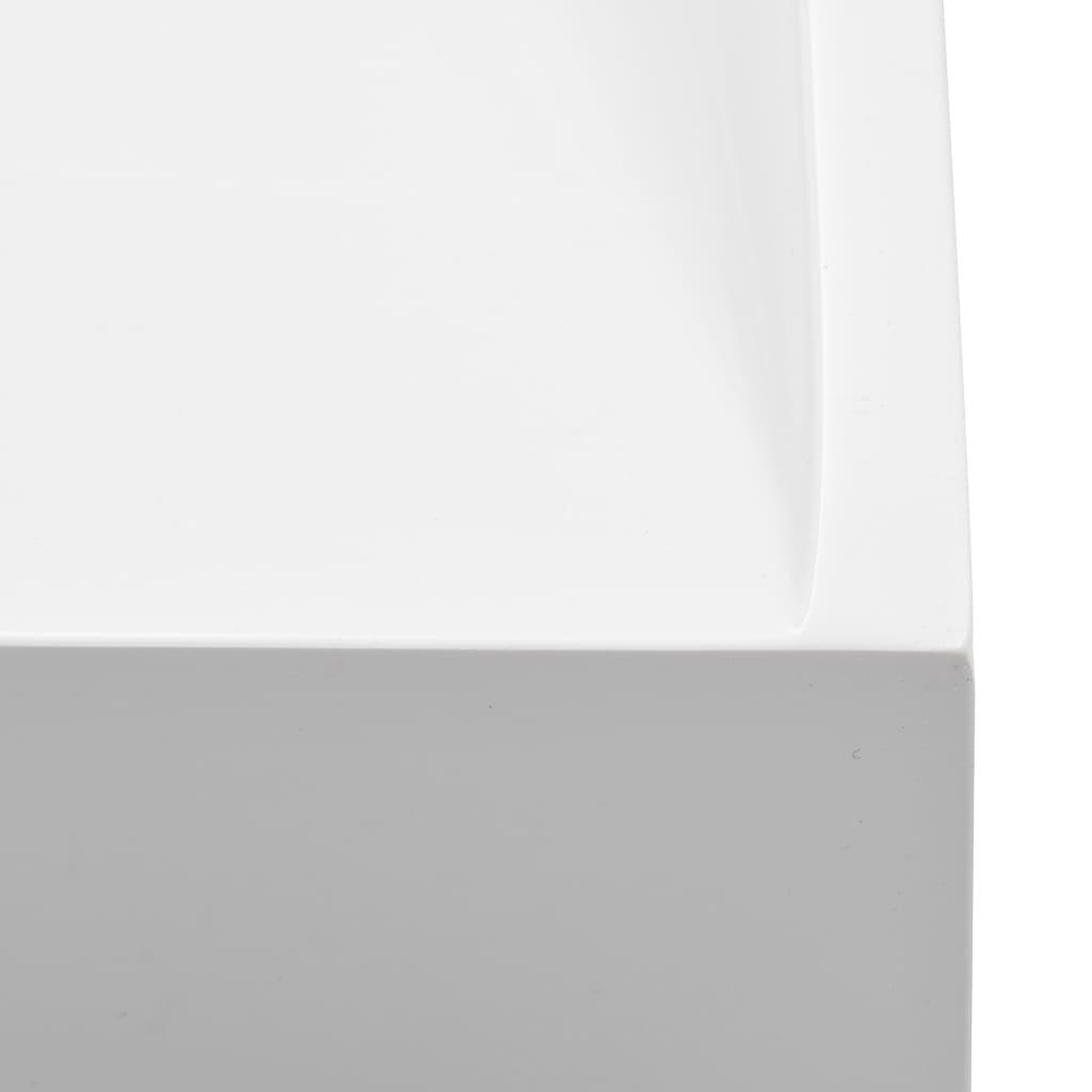 Wastafel 50x38x13 cm mineraal gegoten/marmer gegoten wit