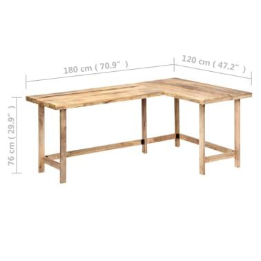 "vidaXL Desk 71""x47.2""x30"" Solid Mango Wood[8/13]"
