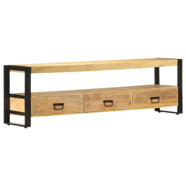 vidaXL TV Cabinet 150x30x45 cm Solid Mango Wood[1/13]