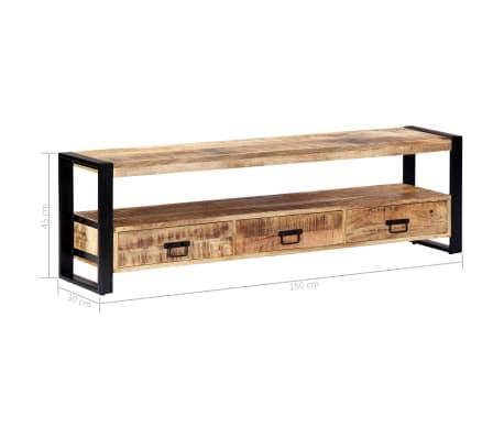 vidaXL TV Cabinet 150x30x45 cm Solid Mango Wood[7/13]