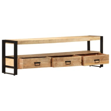 vidaXL TV Cabinet 150x30x45 cm Solid Mango Wood[3/13]