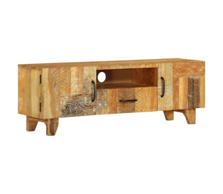 "vidaXL Hand Carved TV Cabinet 47.2""x11.8""x15.7"" Solid Reclaimed Wood"