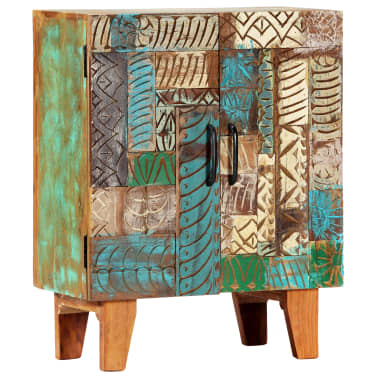"vidaXL Hand Carved Sideboard 23.6""x11.8""x29.5"" Solid Reclaimed Wood[11/13]"