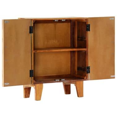 "vidaXL Hand Carved Sideboard 23.6""x11.8""x29.5"" Solid Reclaimed Wood[4/13]"