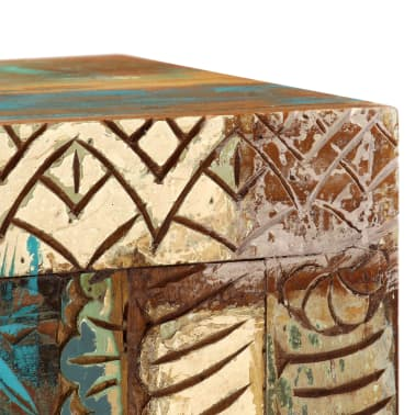 "vidaXL Hand Carved Sideboard 23.6""x11.8""x29.5"" Solid Reclaimed Wood[5/13]"