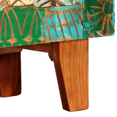 "vidaXL Hand Carved Sideboard 23.6""x11.8""x29.5"" Solid Reclaimed Wood[6/13]"