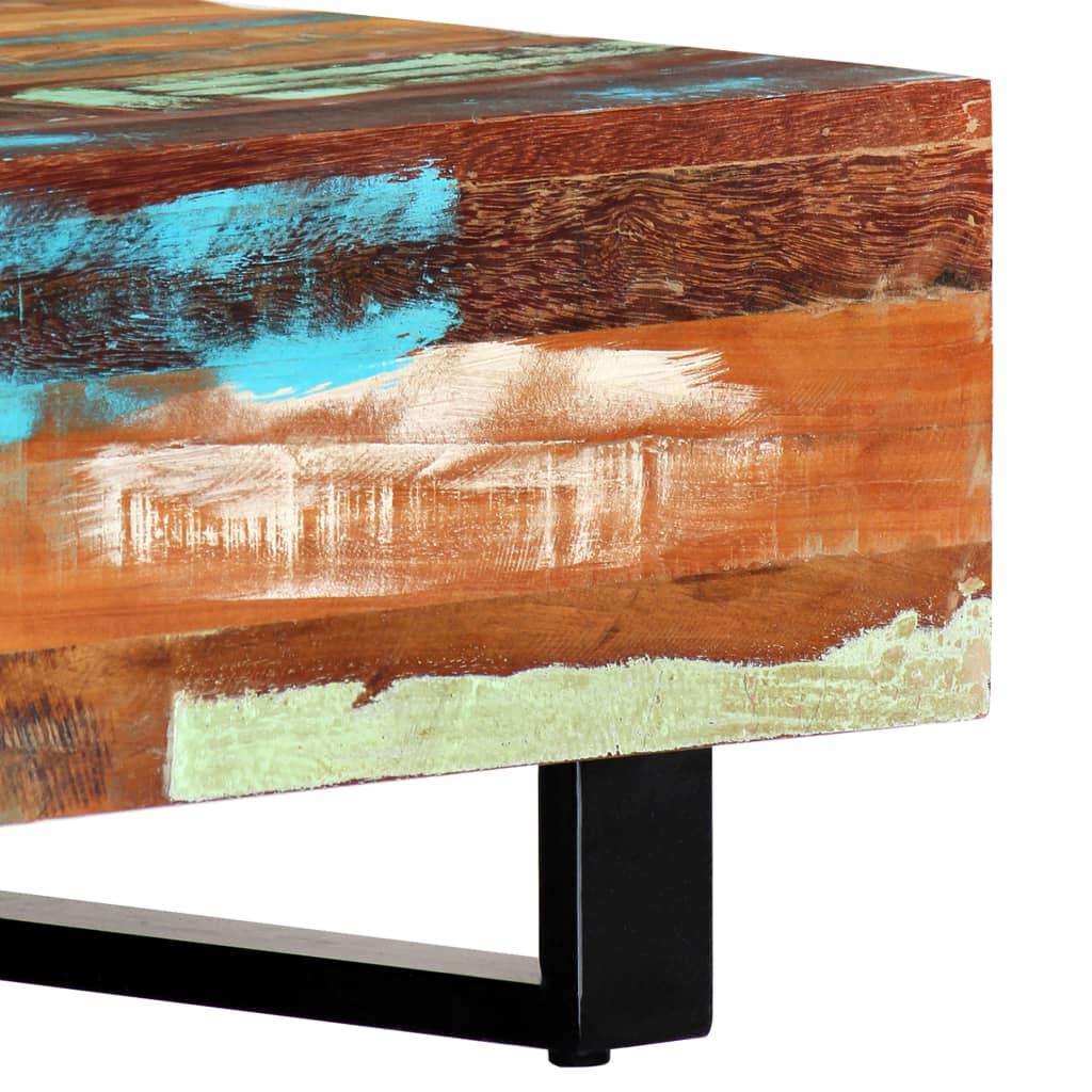 Vidaxl Couchtisch Recyceltes Massivholz Stahl Beistelltisch
