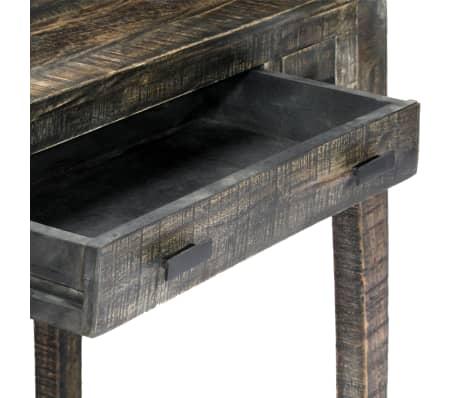 """vidaXL Desk Black 43.3""""x19.7""""x29.5"""" Solid Mango Wood[5/12]"""