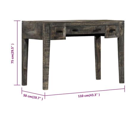 """vidaXL Desk Black 43.3""""x19.7""""x29.5"""" Solid Mango Wood[6/12]"""