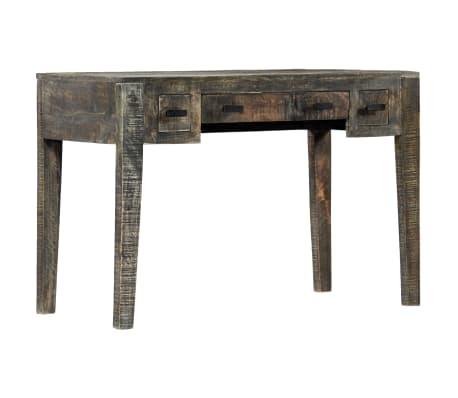 """vidaXL Desk Black 43.3""""x19.7""""x29.5"""" Solid Mango Wood[7/12]"""