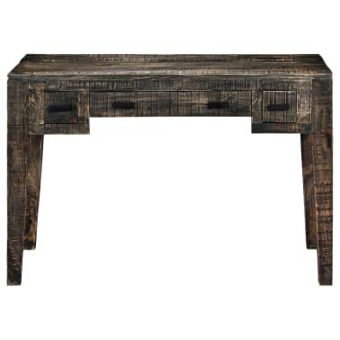 """vidaXL Desk Black 43.3""""x19.7""""x29.5"""" Solid Mango Wood[3/12]"""