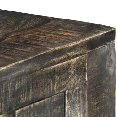 """vidaXL Desk Black 43.3""""x19.7""""x29.5"""" Solid Mango Wood[4/12]"""