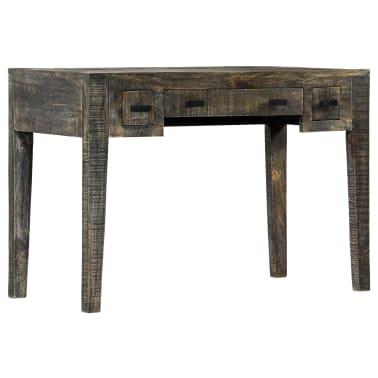 """vidaXL Desk Black 43.3""""x19.7""""x29.5"""" Solid Mango Wood[8/12]"""