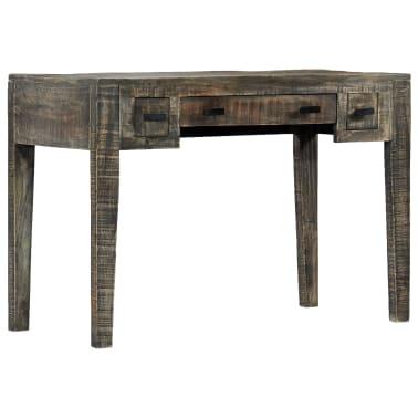 """vidaXL Desk Black 43.3""""x19.7""""x29.5"""" Solid Mango Wood[9/12]"""