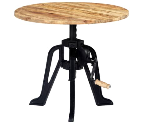vidaXL Side Table 60x(46-63) cm Solid Mango Wood and Cast Iron[1/11]