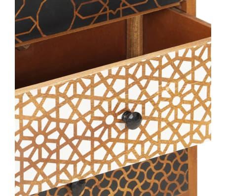 "vidaXL Sideboard with Printed Pattern 35.4""x11.8""x27.6"" Solid Mango Wood[5/13]"