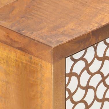 "vidaXL Sideboard with Printed Pattern 35.4""x11.8""x27.6"" Solid Mango Wood[6/13]"