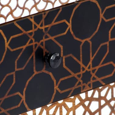 "vidaXL Sideboard with Printed Pattern 35.4""x11.8""x27.6"" Solid Mango Wood[7/13]"