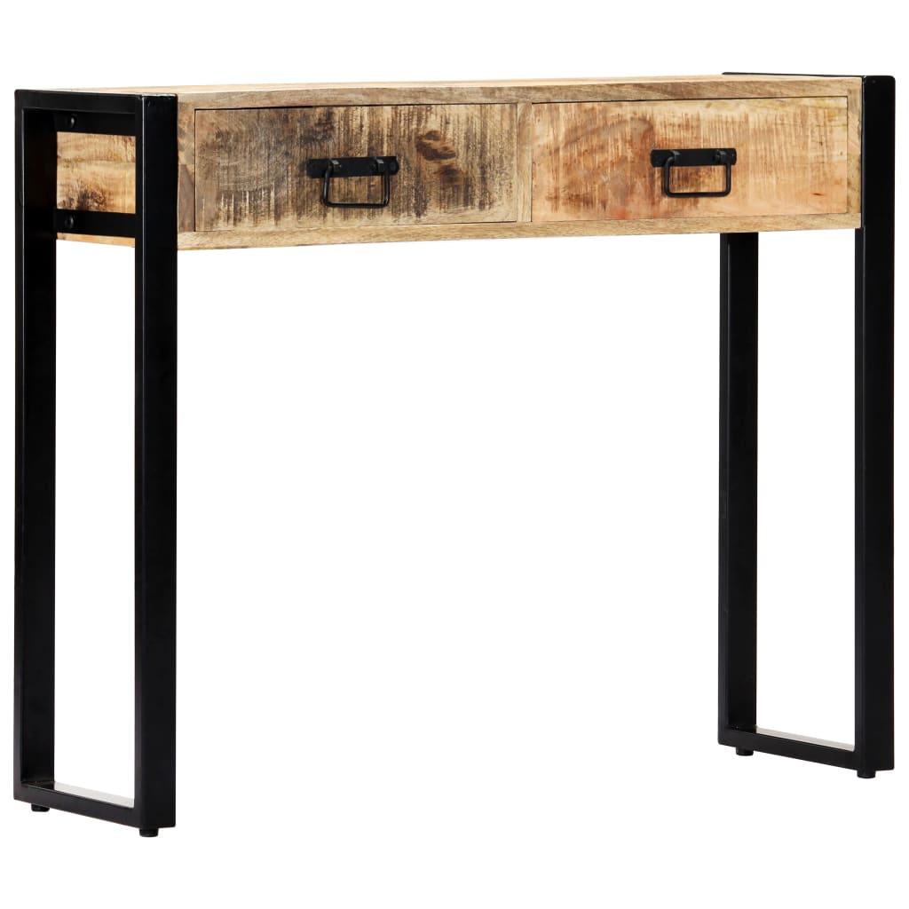 vidaXL Masă consolă, 90 x 30 x 75 cm, lemn masiv de mango vidaxl.ro