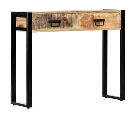 "vidaXL Console Table 35.4""x11.8""x29.5"" Solid Mango Wood[1/12]"