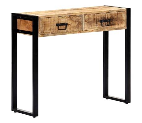 "vidaXL Console Table 35.4""x11.8""x29.5"" Solid Mango Wood[12/12]"
