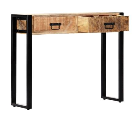 "vidaXL Console Table 35.4""x11.8""x29.5"" Solid Mango Wood[4/12]"