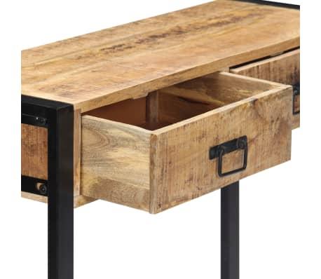 "vidaXL Console Table 35.4""x11.8""x29.5"" Solid Mango Wood[5/12]"