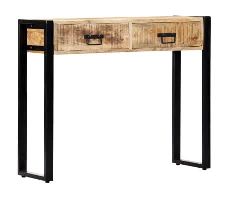 "vidaXL Console Table 35.4""x11.8""x29.5"" Solid Mango Wood[8/12]"