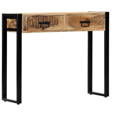 "vidaXL Console Table 35.4""x11.8""x29.5"" Solid Mango Wood[11/12]"