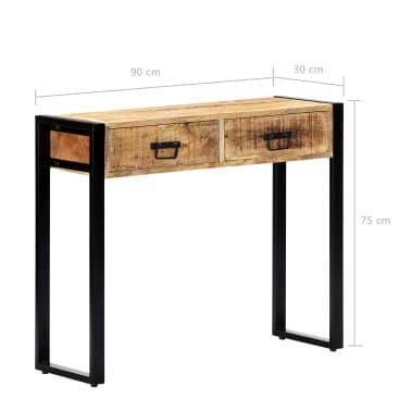 "vidaXL Console Table 35.4""x11.8""x29.5"" Solid Mango Wood[7/12]"