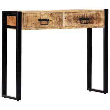 "vidaXL Console Table 35.4""x11.8""x29.5"" Solid Mango Wood[9/12]"