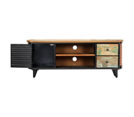 vidaXL TV Cabinet 120x30x45 cm Solid Reclaimed Wood[4/11]