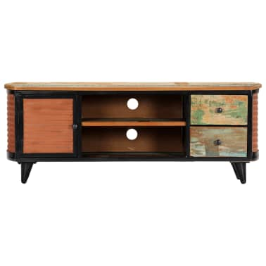 vidaXL TV Cabinet 120x30x45 cm Solid Reclaimed Wood[2/11]