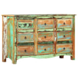 vidaXL Chest of Drawers 130x40x80 cm Solid Reclaimed Wood
