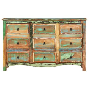 vidaXL Komoda, 130x40x80 cm, lite drewno z odzysku[2/11]