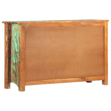 vidaXL Komoda, 130x40x80 cm, lite drewno z odzysku[4/11]