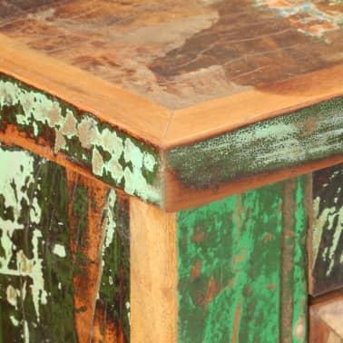 vidaXL Komoda, 130x40x80 cm, lite drewno z odzysku[5/11]