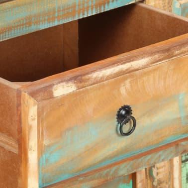 vidaXL Komoda, 130x40x80 cm, lite drewno z odzysku[6/11]