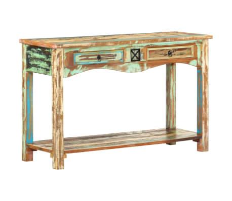 vidaXL Konzolový stolík 120x40x75 cm masívne recyklované drevo