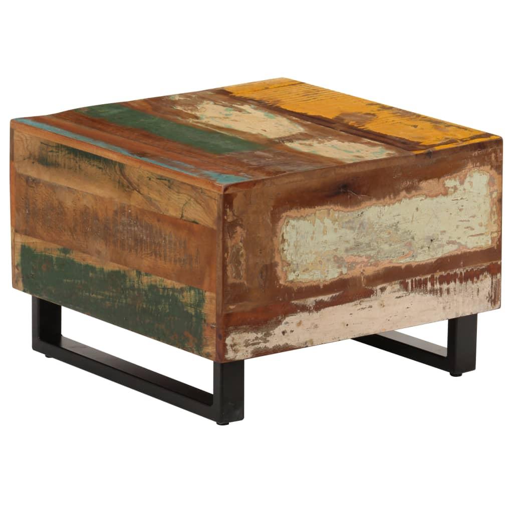 vidaXL Măsuță de cafea, 50 x 50 x 35 cm, lemn masiv reciclat poza 2021 vidaXL
