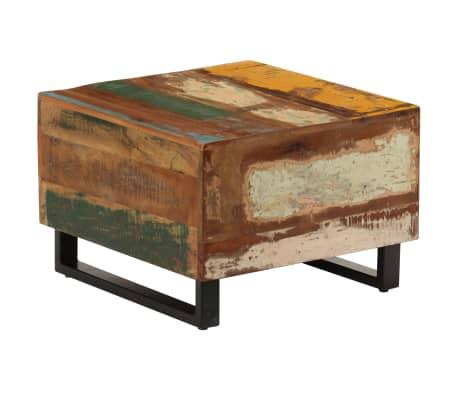 Vidaxl Coffee Table 50x50x35 Cm Solid Reclaimed Wood
