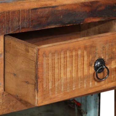 vidaXL Szafka na wino 100x60x172 cm, riksza, lite drewno z odzysku[8/13]