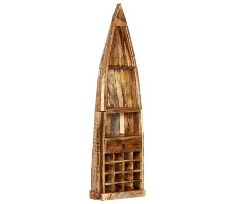 vidaXL Casier à bouteilles 50 x 40 x 180 cm Bois de manguier massif[13/15]